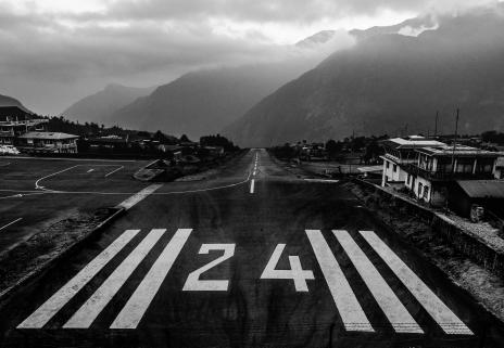 Nepal, Tenzing Hillary Airport, Lukla